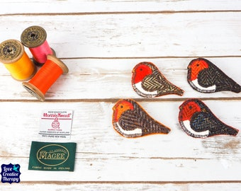 Robin Harris Tweed pin brooch - Choose from Variety!