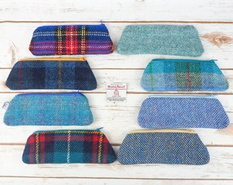 Harris Tweed Pen or Glasses Case - Choose from variety!