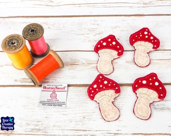 Toadstool Mushroom Harris Tweed pin brooch - Choose from Variety!