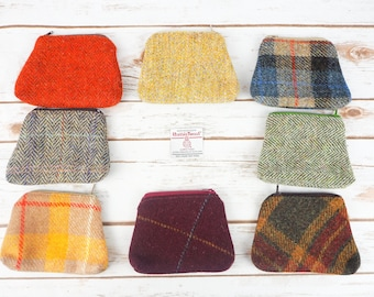 Harris Tweed Coin purse - earphone pouch - Choose from variety!
