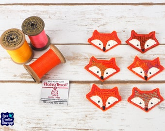 Fox Harris Tweed pin brooch - Choose from Variety!