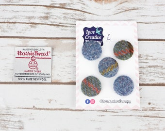 MacLeod Tartan Harris Tweed Covered Buttons - 23mm