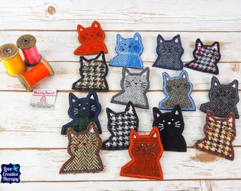 Kitty Cat - Harris Tweed pin brooch - Choose from Variety!