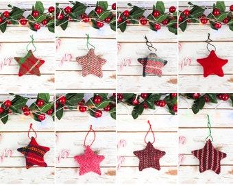 Harris Tweed Stars Decoration - Choose from lots of tweeds!