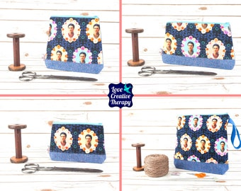 Frida Kahlo Pouches/ Craft Bag - Choose size!