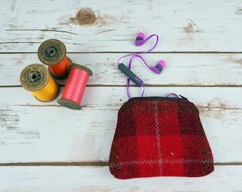 Harris Tweed Coin purse - earphone pouch