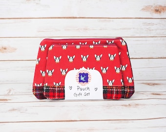 Pouch Set - Cotton and Harris Tweed
