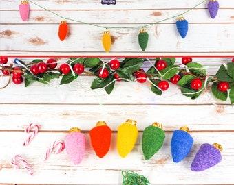 Pastel Rainbow Harris Tweed Fairy 'Lights' Garland