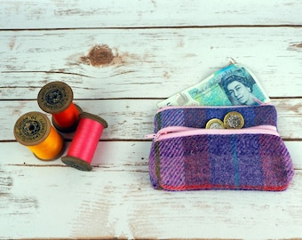 Harris Tweed Large Coin purse - earphone pouch