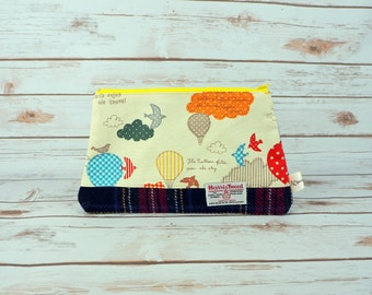 Large Pouch - Cotton and Harris Tweed