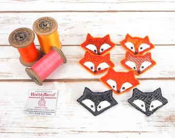 Fox & Badger - Harris Tweed pin brooch - Choose from Variety!