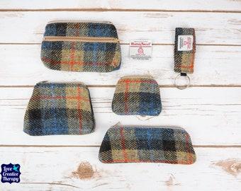 Natural Tartan Harris Tweed Accessories - Coin Purse, Pen/ Glasses Case, Keyring