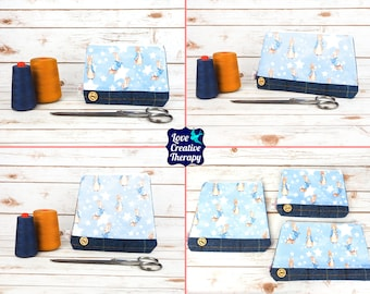 Zipped Pouches: Peter Rabbit Cotton and Harris Tweed - Choose Size!
