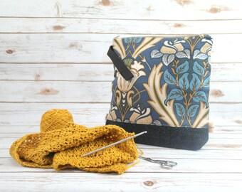 Retro Pattern Knitting bag with Harris Tweed