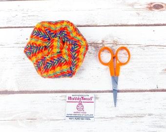Rainbow Tartan Harris Tweed Pin Cushion