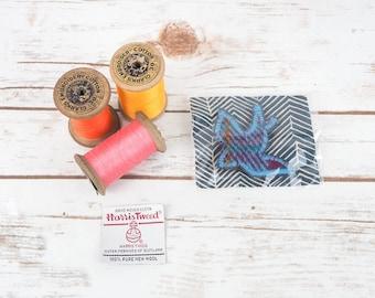 Swallow Bird - Harris Tweed pin brooch - Choose from Variety!