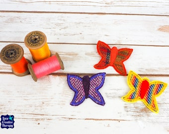 Butterfly - Harris Tweed pin brooch - Choose from Variety!