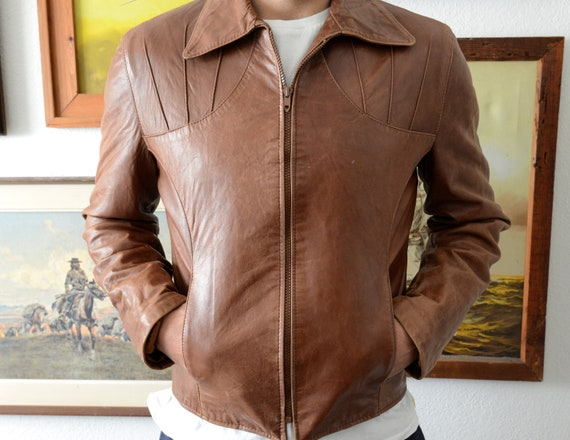 Men's 1970s Leather Jacket