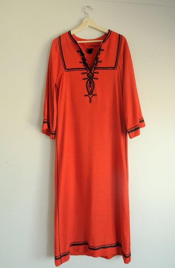 1970s Red Tunic Dress