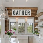 Gather Sign Large Canvas, Kitchen Decor, Custom Sign, Home Decor, Kitchen Art, Thanksgiving, Personalize Colors, choose size
