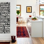 London Wall Art Bus Scroll Sign, Underground, Large Canvas, Custom, Vintage-look, Destination, Typography, Subway Stops and Streets