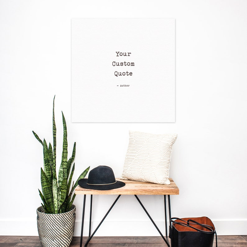 Custom Quote Canvas Your choice of literary quotes or song image 0