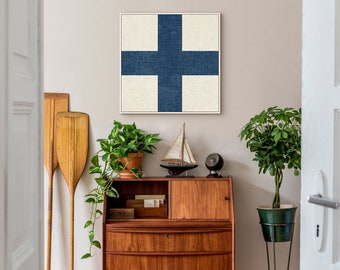 Nautical Signal Flag Sign on Canvas, Framed Canvas, or Metal, the perfect Wall Art for your Beach or Lake House, Vintage Print, Initial X