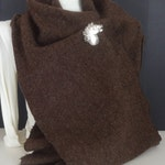 Extra Long 100% Wool Harris Herringbone Tweed Scarf-Brown, Beige,Burgundy,Green