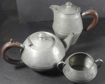Vintage Arts and Crafts Hammered My Lady English Tea Set
