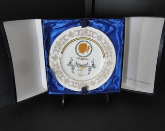 Vintage THREE 1973 Royal Souvenir Wedding Plates