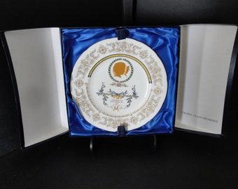 Vintage THREE 1973 Royal Souvenir Wedding Plates-HRH Princess Anne and Capt. Mark Phillips