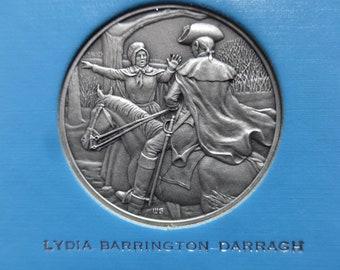 DAR The Great Women of the American Revolution-Darragh,Draper,Elliott— Fine Pewter Medals-Franklin Mint-1974-Mother's Day