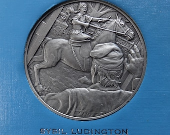 DAR The Great Women of the American Revolution-Ludington,Motte,Murray— Fine Pewter Medals-Franklin Mint-1974-Mother's Day