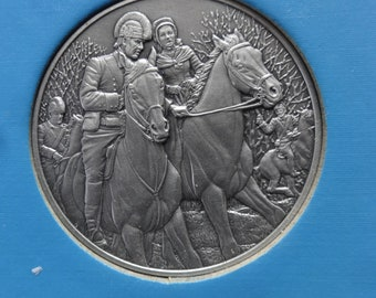 DAR The Great Women of the American Revolution-Geiger,Greene,Hanson— Fine Pewter Medals-Franklin Mint-1974-Mother's Day