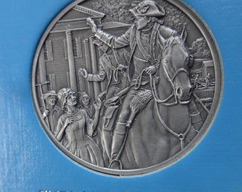 DAR The Great Women of the American Revolution-Pinckney,Poe,Sampson— Fine Pewter Medals-Franklin Mint-1974-Mother's Day