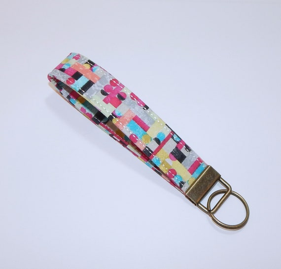 Modern Print Key Fob Key Chain Keychain Holder Womens  1a4a62cb3d