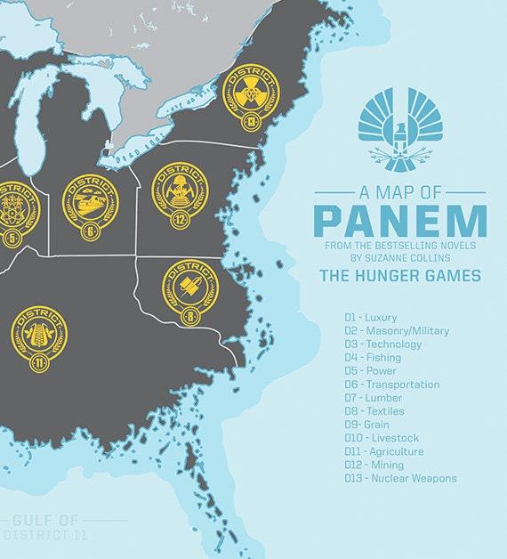 Panem Map - Hunger Games \