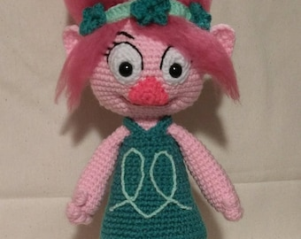 Crochet Poppy Troll Doll - Amigurumi Troll - Crochet Doll - MADE TO ORDER