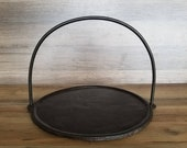 1700-1800 39 s Hanging Cast Iron Griddle Cleaned and Seasoned
