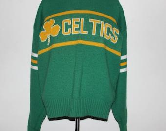 Vintage Boston Celtics Cliff Engle NBA Sweater S 0a8adecb6