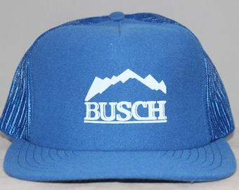 Vintage BUSCH Beer Snapback Hat d1ea31733700