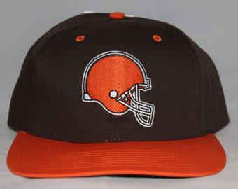 Vintage Deadstock Cleveland Browns NFL Snapback Hat 12c4071eece