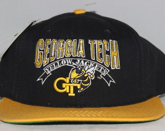 259615a1c60 Vintage Georgia Tech Yellow Jackets The Game Glue Tag NCAA Snapback Hat