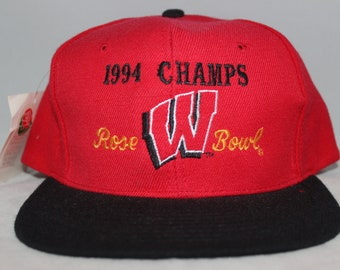 e8dfba6061391a Vintage Deadstock Wisconsin Badgers Rose Bowl NCAA Snapback Hat