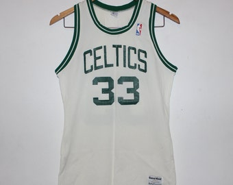 huge selection of a2fd5 38332 Vintage Boston Celtics Larry Bird Sand Knit NBA Jersey S