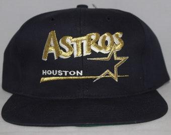 Vintage Deadstock Houston Astros MLB Snapback Hat aab74e122583
