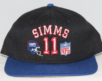 Vintage New York Giants Phil Simms NFL Snapback Hat 8e83188ce
