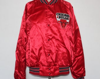 260064bb4ad305 Vintage Chicago Bulls Chalk Line NBA Jacket M