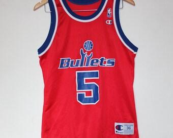 a71ebe64 Vintage Washington Bullets Juwan Howard Champion NBA Jersey 36