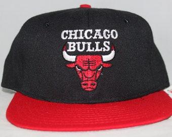 new style 52202 c2d3a Vintage Deadstock Chicago Bulls AJD NBA Snapback Hat